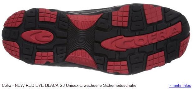 Cofra NEW RED EYE BLACK S3 Unisex-Erwachsene Sicherheitsschuhe Arbeitschutzschuhe