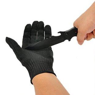 OVOS Arbeitshandschuhe Edelstahl-Drahtgewebe Handschuhe- Schnittfest